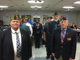 Sr. Vice Commander Dave Rogers installed as Junior Vice of the Suffolk County Council VFW