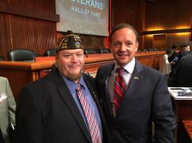 Sr. Vice Commander Dave Rogers installed into the NYS Veterans Hall of Fame