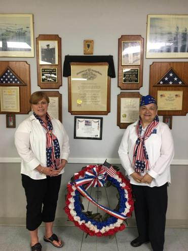Auxiliary President Barrett and Past President Shine during Memorial Day