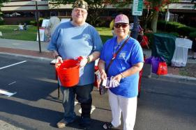 Sr. Vice Commander and Maria Shine of the Auxiliary at Alive After Five