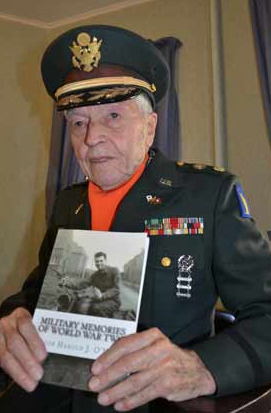 Harold O'Neill, 95 of Patchogue, Photo taken in his home 2015