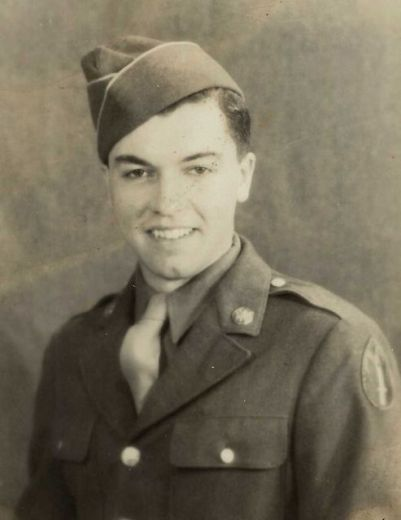 Harold O'Neill, 95, of Patchogue, in a photo taken at Camp Van Dorn in Mississippi in 1943