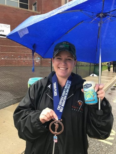 Member Melissa Pandolf, a Suffolk County Veterans Service Officer came in 3rd in the female veterans category for the 5K