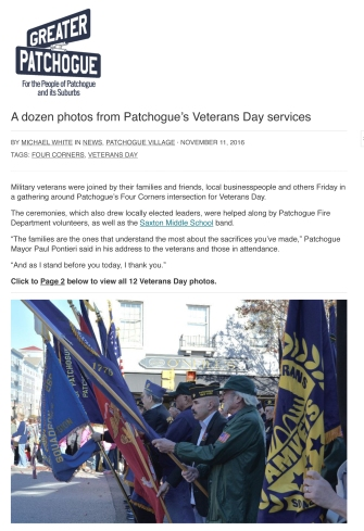 A dozen photos from Patchogue's Veterans Day services - Greater