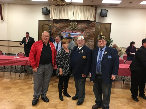 Commander Barrett, Quartermaster Egan, Sr Vice Rogers and President of Auxiliary Barrett at the Suffolk County Council Legislative Breakfast