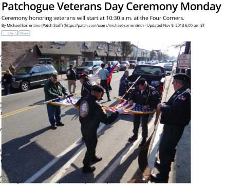 Patchogue Veterans Day Ceremony Monday - Patchogue, NY Patch