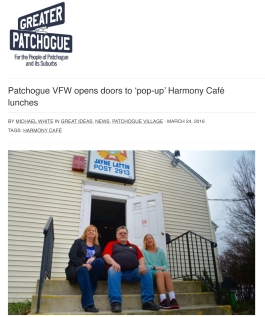 Patchogue VFW opens doors to 'pop-up' Harmony Café lunches –