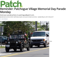 Reminder: Patchogue Village Memorial Day Parade Monday - Patchog