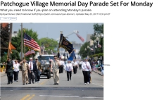 Patchogue Village Memorial Day Parade Set For Monday - Patchogue
