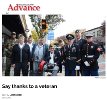 Say thanks to a veteran - Long Island Advance