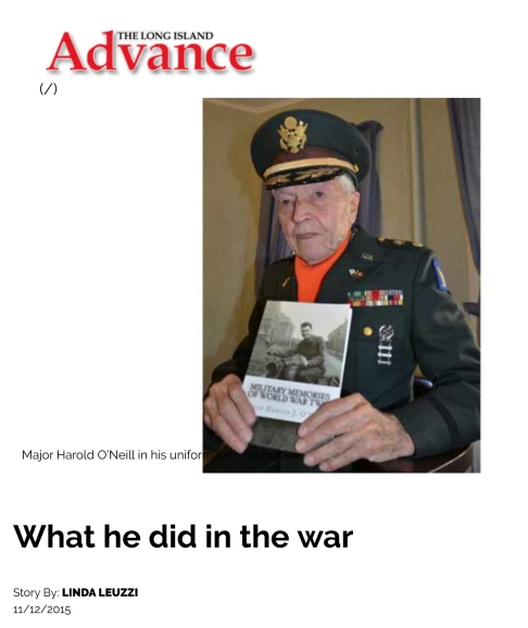 What he did in the war - Long Island Advance